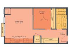 Studio Apartment Uptown Minneapolis one bedroom floor plan of property track 29 city apartments. track