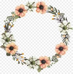 Wreath Floral design Flower Garland – A garland png is about is about Decor, Flo… Flower Border Png, Flower Circle, Floral Border, Flower Frame, Floral Garland, Flower Garlands, Flower Backgrounds, Flower Wallpaper, Wreath Watercolor