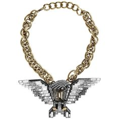 lanvin-Swarovski-crystal-eagle-necklace ❤ liked on Polyvore featuring jewelry, necklaces, eagle jewelry, swarovski crystals necklace, swarovski crystals jewelry, swarovski crystal jewellery and eagle necklace