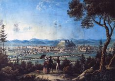 View from under Rožnik hill towards Ljubljana 1820