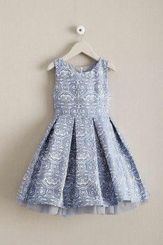 Girls Pastel Brocade Dress: #Chasingfireflies $49.97