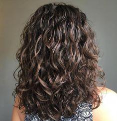 Voluminous Wavy Permed Hair #curlyhair
