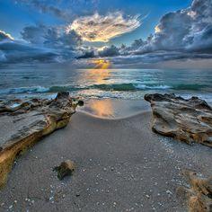 Carlin Park Sunrise at Beach - Jupiter, Florida by Captain Kimo, via Flickr