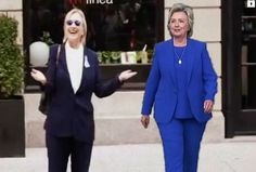 This side-by-side shows a difference in body types as well. How did Hillary lose…