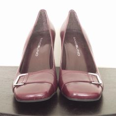 "Bandolino Burgundy/Maroon Leather Shoes A beautiful pair of Bandolino shoes with a 3"" heel.  These have been gently used but show minimal signs of wear. Bandolino Shoes Heels"