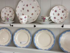Just a few of your great -aunt's 'best' plates can uplift the shelves of any dresser...
