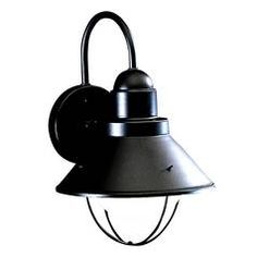 Kichler Lighting Outdoor Wall Light in Black Finish 9022BK