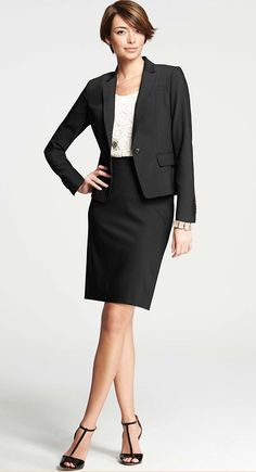 Ann Taylor professional skirt suit, but the skirt should go down ...
