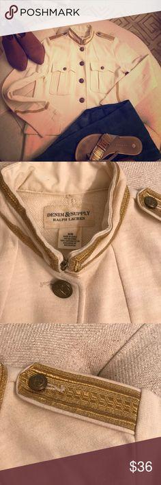 Ralph Lauren denim and supply Jacket w/gold trim Denim & Supply Ralph Lauren Jackets & Coats Blazers