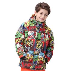 69.00$  Buy now - http://alii2c.worldwells.pw/go.php?t=32757523419 - Gsou Snow Ski Jacket Kids Winter Outdoor Children Warm Colorful Snowboard Jacket Windproof Waterproof Thermal Snow Sports Coats