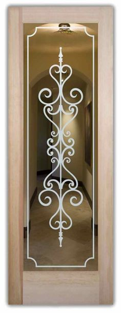 Carmona Frosted Glass Door by Sans Soucie Art Glass.
