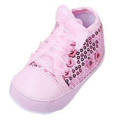 Bigood Liebe süße Baby-Mädchen Lauflernschuhe Seide Schnürsenkel Pailletten Deko 11 Pink - http://on-line-kaufen.de/bigood/schuh-laenge-11cm-bigood-liebe-suesse-baby-seide