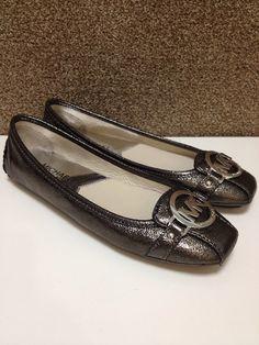 MICHAEL Michael Kors 'Fulton Moc' in nickel crinkled metallic 40F3FUFR1M - $98 - Joe's Ladies Shoes