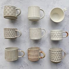 Obsessed with this color story + these mugs from Kate Clark .- Obsessed with this color story + these mugs from Kate Clark ✨ Obsessed with this color story + these mugs from Kate Clark ✨ - Ceramic Clay, Ceramic Pottery, Pottery Art, Ceramics Pottery Mugs, Slab Pottery, Pottery Wheel, Ceramic Bowls, Mugs Sharpie, Keramik Design