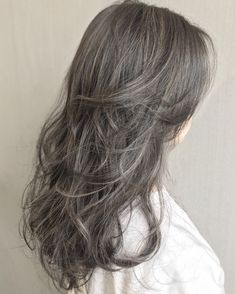 Cute Hairstyles, Long Hair Styles, Beauty, Grey Hairstyle, Colorful Hair, Shades Of Grey, Cosmetology, Long Hairstyles, Long Hair Cuts
