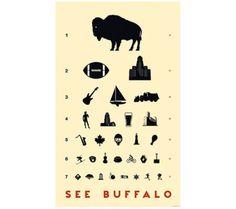 Buffalo Eye Chart Print | Buffalo Rising
