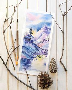 Watercolorist: @dina.shpagina #water log