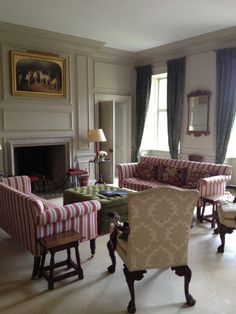 How can you create classical Regency or Georgian interiors from scratch? Georgian Interiors, House Interior, Cottage Interiors, French Interior, Interior, Living Room Styles, Cottage Style Homes, English Decor, Georgian Homes