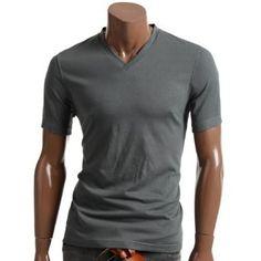 Doublju Mens Short Sleeve V-Neck T-Shirt Collection (DJ005)