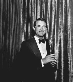 Image result for cary grant accepts oscar for ingrid bergman