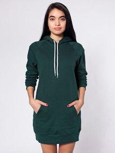 American Apparel California Fleece Hoodie Dress. Oooooomg I need.