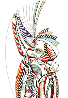 Marcapiano, Anima danzante (dettaglio), china a colori