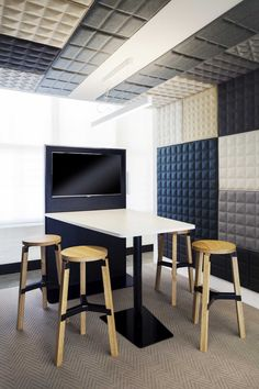 conference room with acoustic pattern. Stay Stool - Zenith