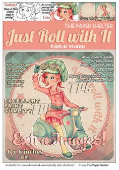 Just Roll with it - Digital Stamp
