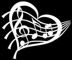 Details About Treble Clef Heart Vinyl Decal Sticker Car