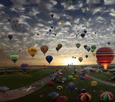 Fly a balloon..