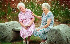 laughter is the best shared! - I can see this being me and my best friend of over 30 years! I Smile, Make You Smile, Old Folks, Young At Heart, Best Friends Forever, Happy People, Smiling People, Getting Old, Old Women