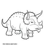 Triceratops Dinosaur.