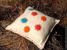 Текстиль, ковры ручной работы. Ярмарка Мастеров - ручная работа. Купить подушка шерсть. Handmade. Войлок, для дома, войлок