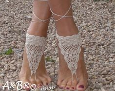 Crochet Barefoot Sandals, Tan Barefoot sandles,Beach Pool,Nude shoes,Foot jewelry Bare Foot Sandals, Beach Sandals, Strand Pool, Boho Beach Wedding, Pool Wedding, Beach Weddings, Crochet Barefoot Sandals, Crochet Wedding, Nude Shoes