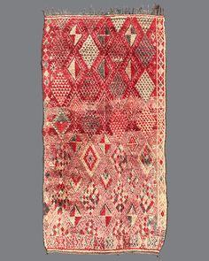 vintage Moroccan rug, Beni M'Guild #BG55