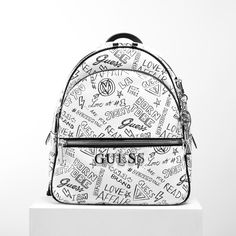 c9170bad691  brandbags  backpack  guess  guessbag  silver  white