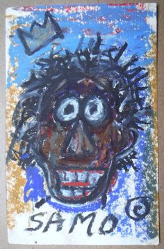 authentic original SAMO Basquiat Street Art Graffiti postcard 1980 Warhol era #PopArt