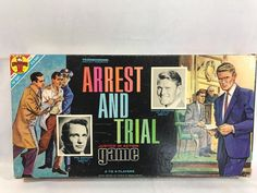 Vintage Transogram Arrest and Trial Board Game ABC TV Show 1963 Complete #Transogram