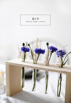 DIY floral table centre idea | home diy tutorials | a fun way to display flowers | home decor