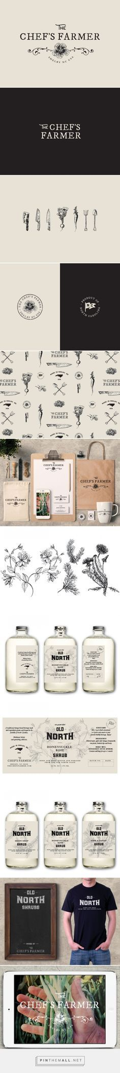The Chef's Farmer branding, logo design, illustrations, hand lettering…