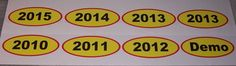 Used Car Dealer Year Decals FULL COLOR Window Decal Decals Sticker Truck Stickers by SuperbDecalsLLC on Etsy