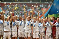 US WOMENS SOCCER TEAM WORLD CUP CHAMPIONS