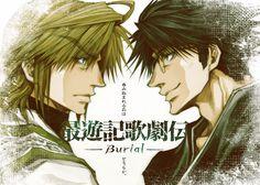 """""""Saiyuki opera Den -Burial-""""  .... Genjo Sanzo & Ukoku Sanzo"""