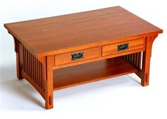 Mission Oak 2 DRAWER COFFEE TABLE AC9172