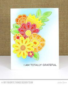 Doodled Blooms Card Kit - Julie Dinn  #mftstamps