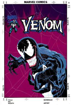 GULACY, PAUL - Venom painted alternate cover - large profile  Comic Art