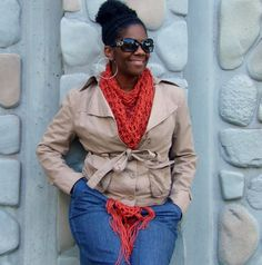 Triangle Scarf Shawl Wrap Crochet Scarf Triangle by glaccessories
