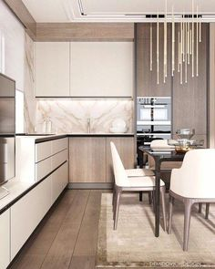Awesome modern kitchen room are offered on our site. Read more and you wont be sorry you did. Kitchen Room Design, Luxury Kitchen Design, Contemporary Kitchen Design, Best Kitchen Designs, Kitchen Cabinet Design, Luxury Kitchens, Home Decor Kitchen, Interior Design Kitchen, Kitchen Furniture