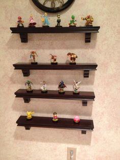 Nintendo amiibo storage and shelfing