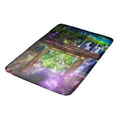 Rainbow Universe's Pathway to Paradise Bathroom Mat